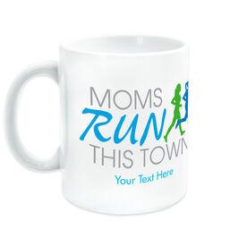 Running Ceramic Mug - Moms Run This Town Logo