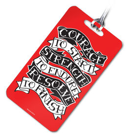 Running Bag/Luggage Tag Courage To Start Tattoo