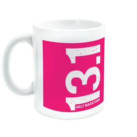 Running Ceramic Mug 13.1 Half Marathon Vertical