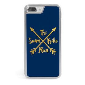 Triathlon iPhone® Case - Tri Crossed Arrows