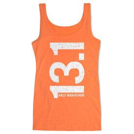 Women's Athletic Tank Top 13.1 Half Marathon Vertical