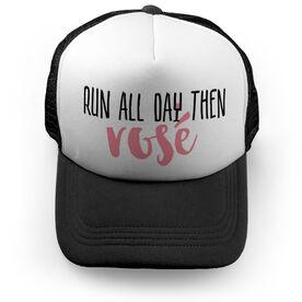Running Trucker Hat - Run All Day Then Rosé