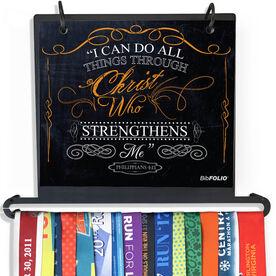 BibFOLIO Plus Race Bib and Medal Display - I Can Do All Things Through Christ Chalkboard