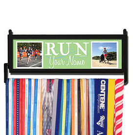 RunnersWALL Run Your Name with Your Photos Medal Display
