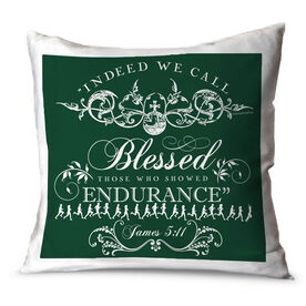 Running Throw Pillow Vintage Indeed We Call Blessed