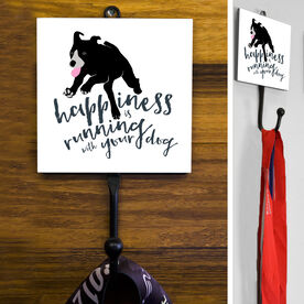 Happiness Is Running With Your Dog Medal Hook
