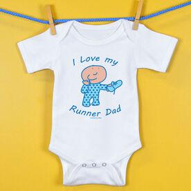 Baby One-Piece I Love My Runner Dad