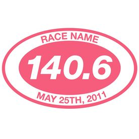 Personalized 140.6 Oval Running Vinyl Decal
