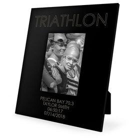 Triathlon Engraved Picture Frame - Triathlon
