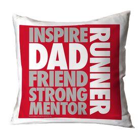 Running Throw Pillow Dad Runner Word