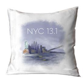 Running Throw Pillow - New York City Sketch
