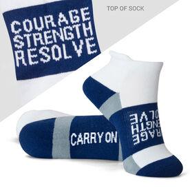 Socrates® Woven Performance Socks Courage Strength (Black)