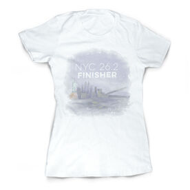 Vintage Running Fitted T-Shirt - New York City Sketch 26.2 Finisher