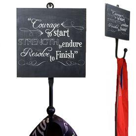 Medal Hook Chalkboard Courage To Start