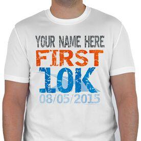 Men's Running Customized Short Sleeve Tech Tee First 10K (Distressed)