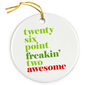 Running Porcelain Ornament - Awesome Mantra