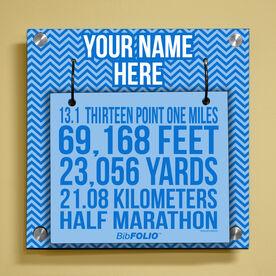 Personalized 13.1 Math Miles Wall BibFOLIO® Display