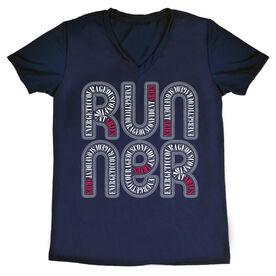 Women's Running Short Sleeve Tech Tee Aries Zodiac Runner