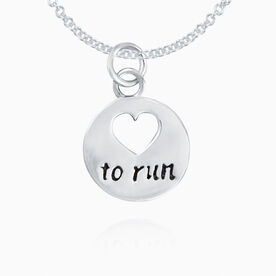 Sterling Silver Love To Run Necklace