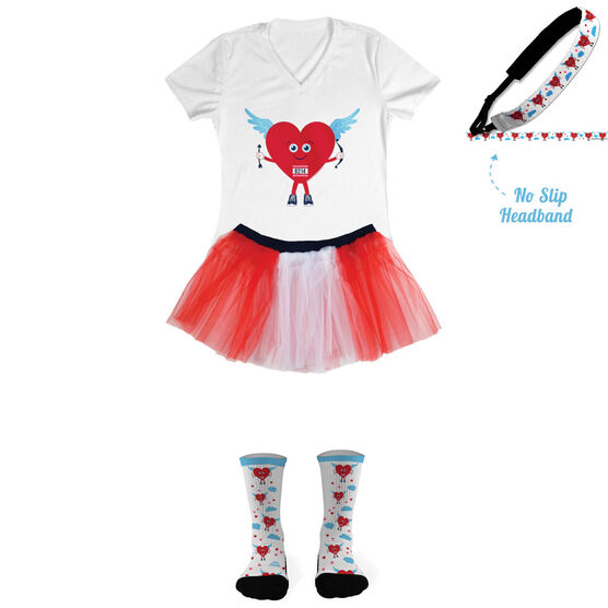 Cupid Heart Running Outfit