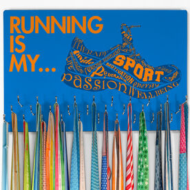 Running Hooked on Medals Large Medal Hanger Running is My