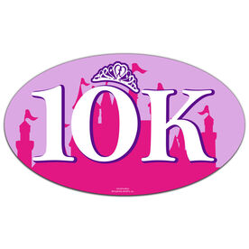 10K (Pink Castle) Oval Car Magnet