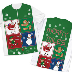 Men's Running Customized Short Sleeve Tech Tee Santa Gingerbread Man Snowman Runners
