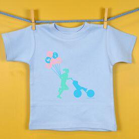 Baby T-shirt I Heart 2 Run Stroller Run