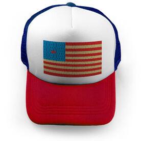 Running Trucker Hat - Run Flag