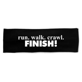 RunTechnology Tempo Performance Headband - Run. Crawl. Walk. FINISH!