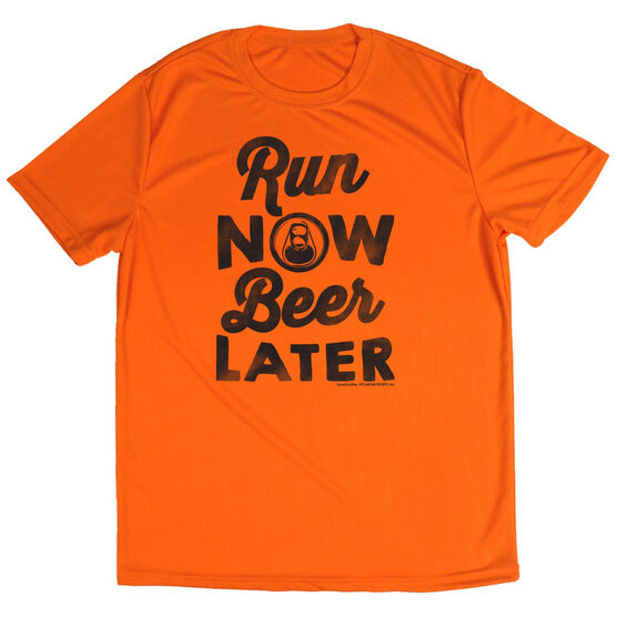 Men's Running Short Sleeve Tech Tee Run Club Run Now Beer Later