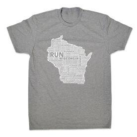 Men's Lifestyle Runners Tee Wisconsin State Runner