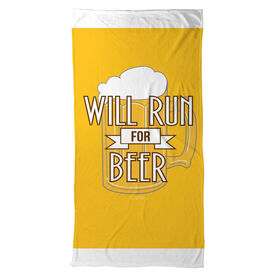 Running Beach Towel Will Run For Beer