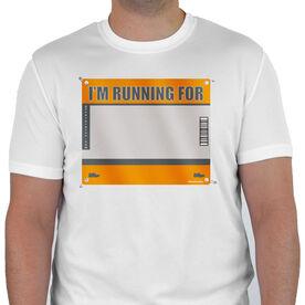Men's Running Customized Short Sleeve Tech Tee I'm Running For (Bib)