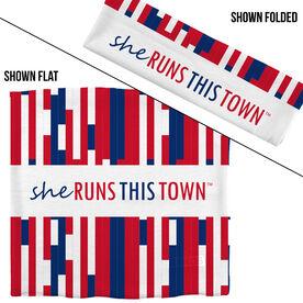 RokBAND Multi-Functional Headband - She Runs This Town RWB Block Pattern