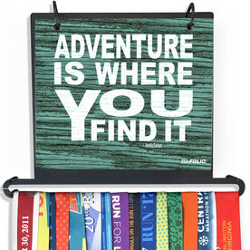 BibFOLIO Plus Race Bib and Medal Display - Adventure Is Where You Find It