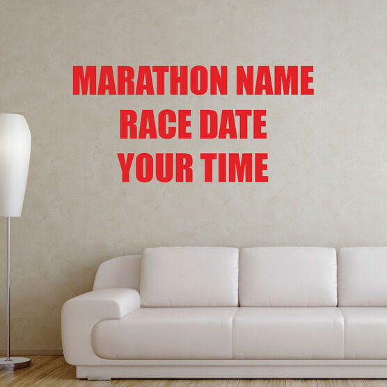 Custom Race Removable GoneForARunGraphix Wall Decal