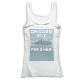Running Vintage Fitted Tank Top - Chicago Sketch 26.2 Finisher