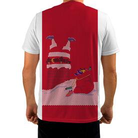 Men's Running Customized Short Sleeve Tech Tee Deer and Santa