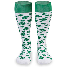 Woven Yakety Yak! Knee High Socks - Lucky Clover