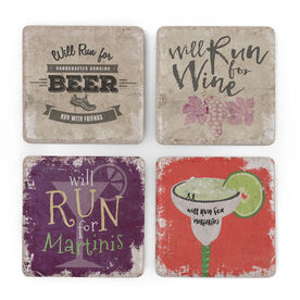 Running Stone Coaster Set of 4 - Will For Drinks