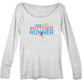 Women's Runner Scoop Neck Long Sleeve Tee One Bad Mother Runner
