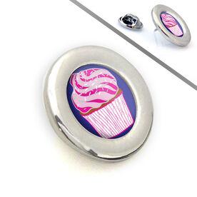 Running Lapel Pin Cupcake