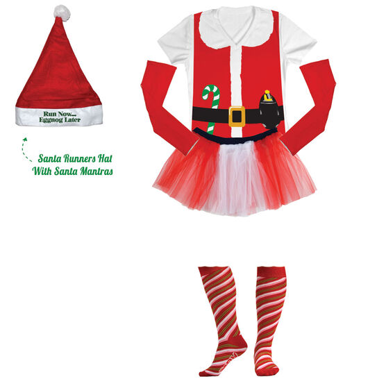 Runner Santa Running Outfit With Santa Mantras