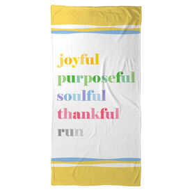 Running Beach Towel - Run Mantra