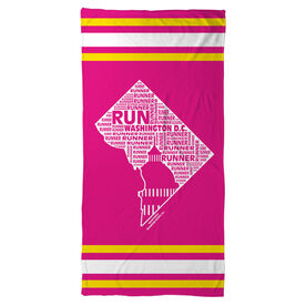 Running Beach Towel District of Columbia State Runner