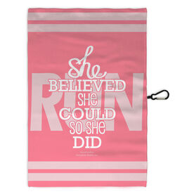 Running Workout/Golf Towel She Believed She Could So She Did