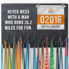 Hooked on Medals Bib & Medal Display Customize Me Quote
