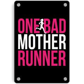 Running Metal Wall Art Panel - One Bad Mother Runner