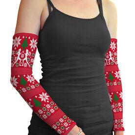 Printed Arm Sleeves Ugly Sweater